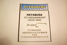 25 HAYABUSA ALL PURPOSE MEDIUM TROUT FLY FISHING HOOKS CODE FLY 373 FLYMAKERS