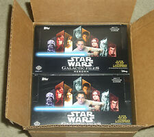 17 Topps Star Wars Galactic Files hobby open case @2300 card lot insert set para