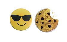 Cookie & Sunglasses Emoji Magnetic Whiteboard Erasers Classroom Combo Pack