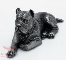 Tin Pewter Figurine of Italian Mastiff Cane Corso Dog IronWork