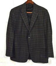 Hickey Freeman 43R Gray Brown Plaid Sport Coat Blazer