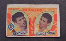 Card FOOTBALL - Salih & Crnogorac - FK SARAJEVO Sarajevo - YUGOSLAVIA 1963. RARE