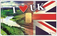 Tarjeta 1 Gramo Oro Karatbars Reino Unido 24 kilates