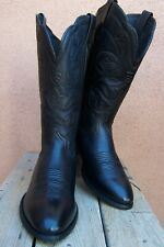 ARIAT  Womens Cowboy Western Boots Rich Black on Black Leather Riding Size 8.5B
