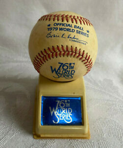 1979 76th World Series Rawlings Offical MLB Game Baseball Ball w/ Display Stand