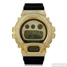 Top Quality Gold Lab Made Iced Out Casio G Shock Watch