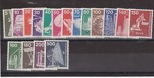 DEUTSCHE BUNDESPOST GERMANY MNH SET INDUSTRY 1975-78 ISSUES 17 VALUES