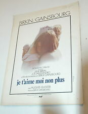 SEXY JANE BIRKIN SERGE GAINSBOURG JE T'LOVE MOI NOT PLUS 1976 RARE SYNOPSIS