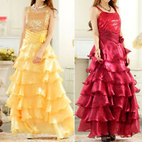 New Evening Party Ball Gown Wedding Bridesmaid Dress UK Size 12 14 16 18 #5279