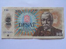 Banknote Tschechoslowakei CSSR 1986 10 Kronen/Korun