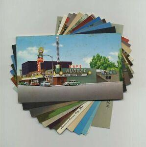 Lot 12 Carson City NV Postcards Casino Hotel Restaurant Chapel Hank Monk hj6272