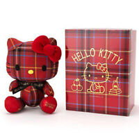 Hello Kitty x Lochcarron Red Tartan Plush Doll DX Japan Sanrio Japan Kawaii F/S