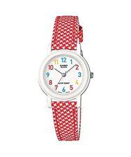 Casio Women's leather/cloth Red Analog Watch LQ-139LB-4B