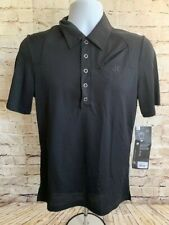 Novara Mens Black Cycling Short Sleeve Polo Shirt With Pockets Size Small A104