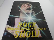 PAUL McCARTNEY& WINGS Brochure 1981 ROCK SHOW