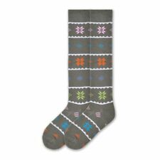 K.Bell Light Gray Great White Shark Knee High Cotton Blend Socks Ladies New