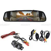 "Wireless Reverse Camera 4.3"" LCD Monitor Display Car Rear View Backup Wide Angle"