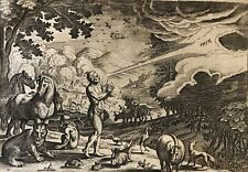 Dieu crée l'homme Jacob Matham après Hendrick Goltzius 1606 -1652 paradis
