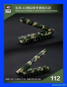 MAR 2021 #112 Dongfeng-41 Intercontinental Nuclear Missile 1:100 XCARTOYS 16cm