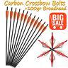 "20""inch Archery Crossbow Arrows Carbon Bolts +100gr Hunting Powerful Broadheads"