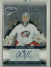 2012/13 Certified Hockey Allen York Certified Signatures Autographed Card #CS-AY