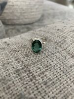 Green Amethyst Ring Size 8.5 SS