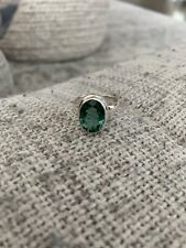 Green Amethyst Ring Size 8.5