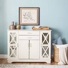 Off White Buffet Sideboard Kitchen Dining Room Server Wood Cabinet