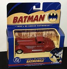 New 1930's Corgi RED BATMOBILE BMBV1 1:43 Scale DC COMICS Die Cast BATMAN CAR