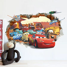 Multi-Color Cartoon Cars 3D Wall Stickers Vinyl Art Decals Children Room Decor