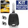 ✅ KIT Réparation • Coque Plip Clé pour Télécommande Peugeot 106 206 306