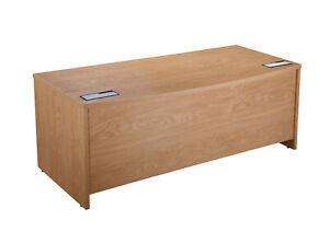 Alto Executive Bow Fronted Panel Ended Desk (WxDxH) 1800x900x730mm