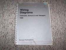 1989 VW Volkswagen Cabriolet Electrical Wiring Diagram Service Manual Book