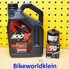 APRILIA RSV4 k&n FILTRO DE ACEITE Motul 300v 5w40 MOTOR 05w40 R cambio Kit 1000