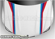 BS2703 BMW bonnet hood racing stripes graphics stickers M sport 1 2 3 4 5 series