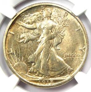 1918-S Walking Liberty Half Dollar 50C Coin - Certified NGC AU58 - Rare Date