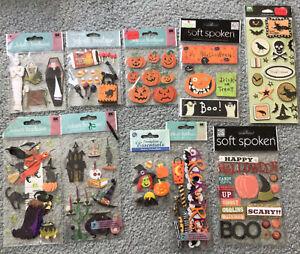 Halloween Lot Scrapbooking Stickers Jolee's Pumpkins Witches Skulls