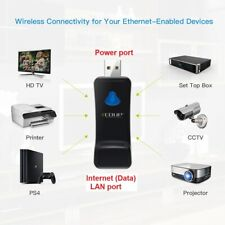 WiFi to RJ45 Ethernet Powered by USB port, Extender Adapter EDUP EP-2911S