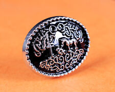 6PCS 35*28 MM Retro Silver Black Western Cowboy Prayer Cross Horse Oval Concho