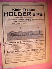 ✪Ausgabe 1933 Klein-Traktor Holder 6 PS Pflügt, Hackt, Rodet, Mäht, Schleppt,uvm