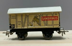 Marklin  388.3  GAMBRINUS  Beer car, w/t large silver loop couplers.  Excellent