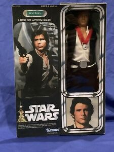 "✨Kenner Vintage Star Wars 12"" Han Solo Large Action Figure Rare ANH✨"