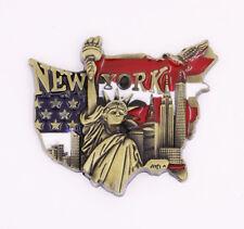 New York USA Fridge Magnet Bronze Metal Statue of Liberty Souvenir Gift New