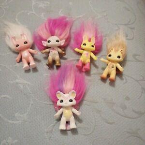 Five Zelf Troll Dolls