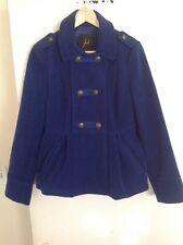 Jack BB Dakota Royal Blue Double Breasted Coat, Size Medium