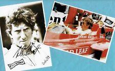 Jochen RINDT (3)  2 SUPER Autogramm - Bilder - Print - Copies + F1 AK signiert
