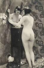 Akt Vintage Foto - Motiv von leicht bekleidete Frau um 1900 (74) /S200
