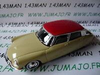 Voiture 1/43 SOLIDO : CITROËN DS 19 1956 crème toit rouge