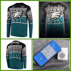 NWT Men's Philadelphia Eagles Bluetooth UGLY Holiday Light-Up Sweater - Large