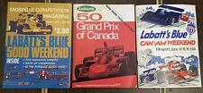 1970's LaBatt Blue Mosport Magazine - Lot of 3 - Grand Prix Formula 1 Racing